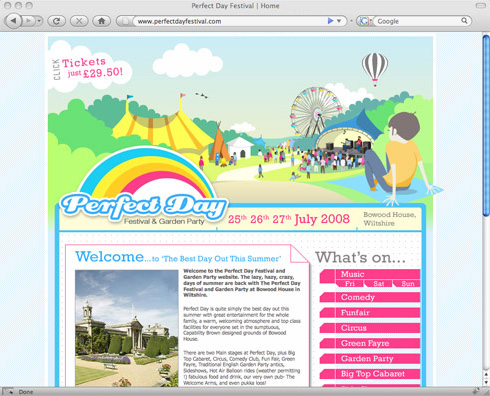 Perfect Day Festival Website